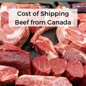 Cost of Shipping Beef from Canada