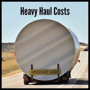 Heavy Haul Costs