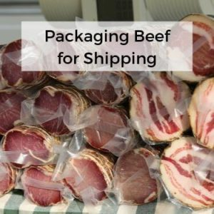 packaging Beef for shipping