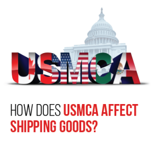 How does USMCA affect shipping goods?
