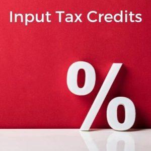 Input Tax Credits