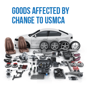 Goods affected by change to USMCA