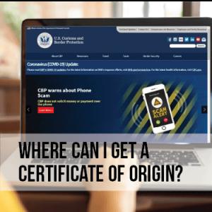 Where can I get a USMCA Certificate of Origin?